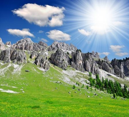 Cime dolomitiche, Rosengarten, Val di Fassa, Alpi Italia