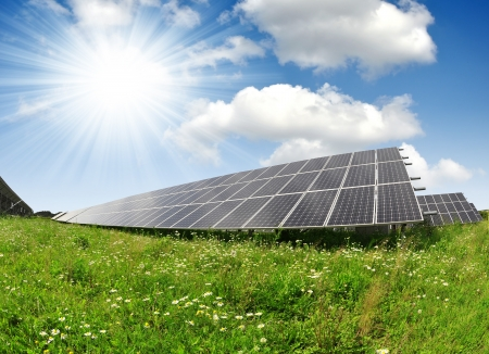 sonnenenergie: Solarenergie-Panels Lizenzfreie Bilder