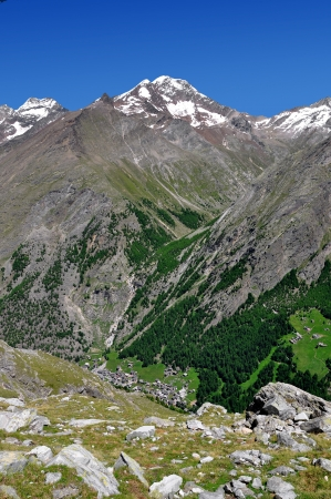 mountainy: Valley Saastal in the canton Wallis - Swiss Alps