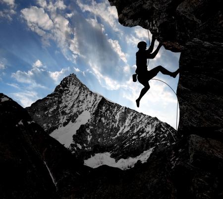 zermatt: climbers in the Swiss Alps  Stock Photo