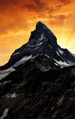 zermatt: sunset on the Matterhorn