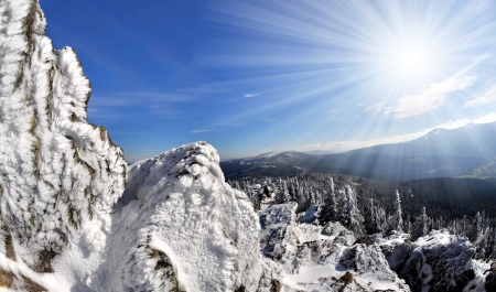 bohemia: Winter in the national park Sumava - Czech Republic