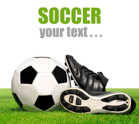 soccer cleats: soccer ball and shoes