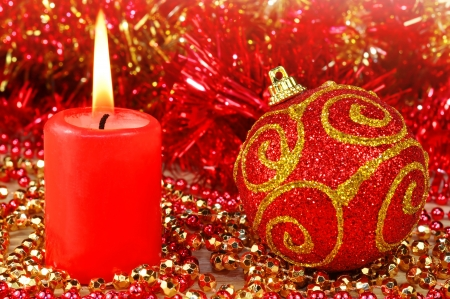 red christmas decoration Stock Photo - 16219039