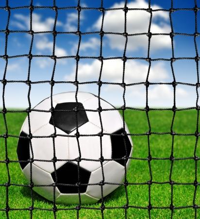 soccer ball in grass Stock Photo - 16432195