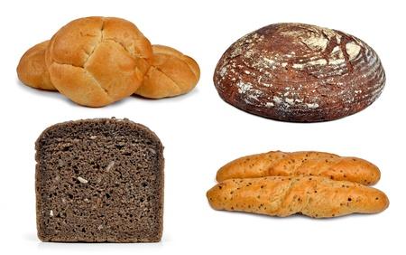 fresh bread isolated on white background Stock Photo - 16486508