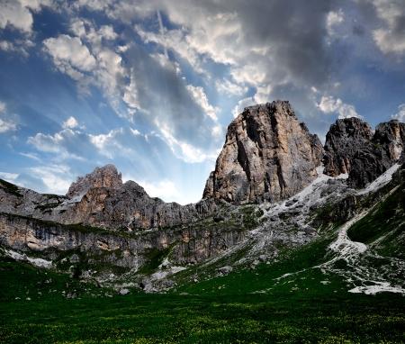 Dolomite peaks, Rosengarten,Val di Fassa, Italy Alps Stock Photo - 16486498