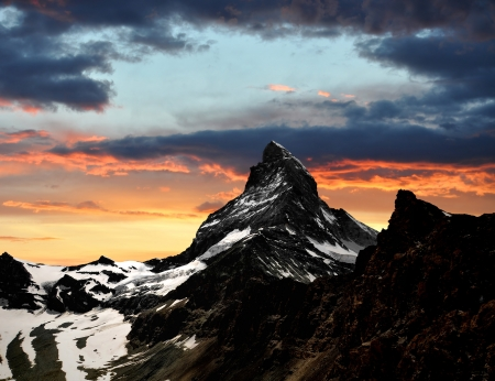 sunset on the Matterhorn  photo