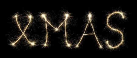 XMAS made of sparkles Stock Photo - 16962046