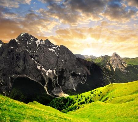 di: Marmolada peak,Val di Fassa - Italy Alps