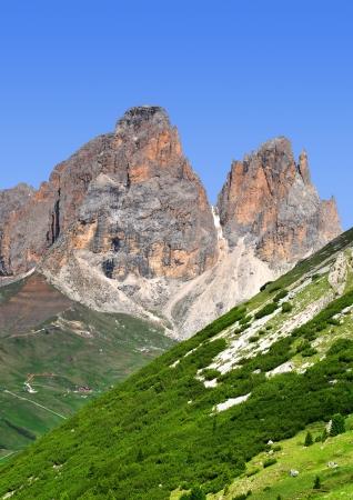fassa: Sassolungo ,Val di Fassa, Italy Alps