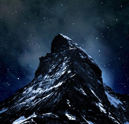 Matterhorn on night sky