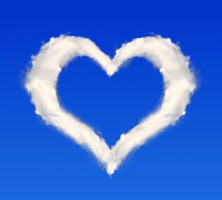 heart from clouds Reklamní fotografie
