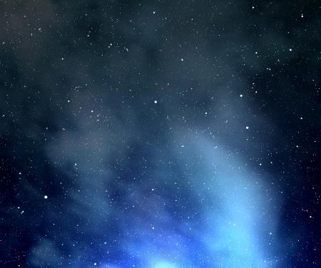 nebulous: night sky with stars and nebula
