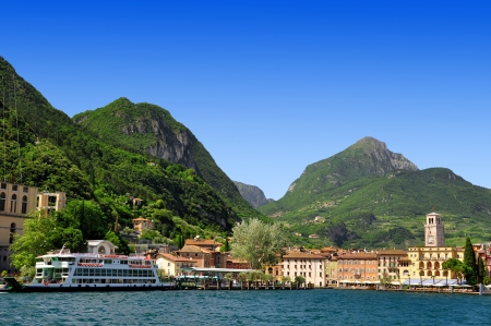 garda: the city of Riva del Garda, Lago di Garda ,Italy  Stock Photo