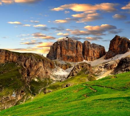 sella: Dolomite peaks,Sella,Val di Fassa, Italy Alps