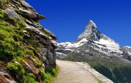 zermatt: Matterhorn - Swiss alps Stock Photo