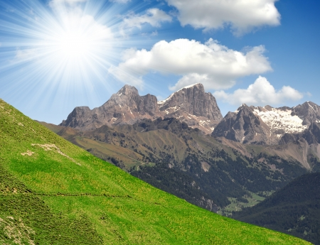 fassa: Marmolada peak,Val di Fassa - Italy Alps