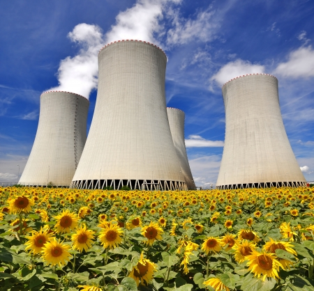 global cooling: Nuclear power plant Temelin in Czech Republic Europe
