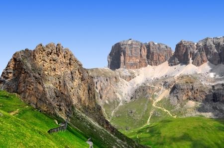clearness: Dolomite peaks,Sella,Val di Fassa, Italy Alps Stock Photo