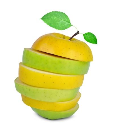 Apple mix isolated on white