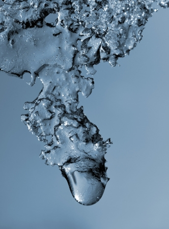 drippings: melting ice close up Stock Photo