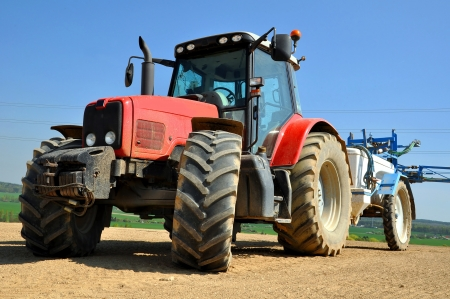 tractor on the field Stock Photo - 18739774