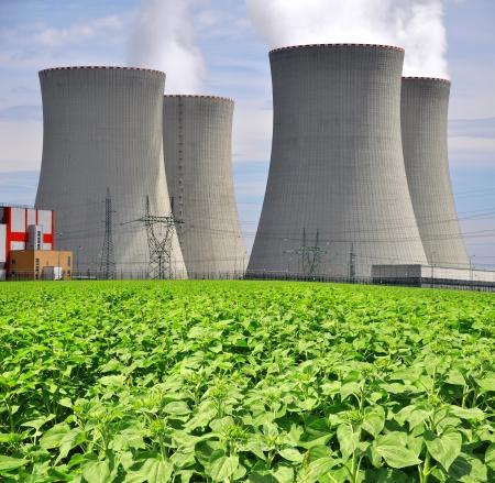 paesaggio industriale: Centrale nucleare di Temelin nella Repubblica Ceca Europa Archivio Fotografico