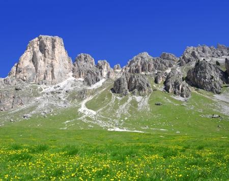 vajolet: Dolomite peaks, Rosengarten,Val di Fassa, Italy Alps