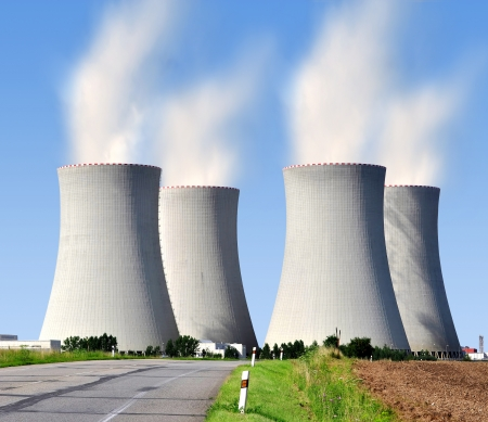 radiation pollution: Nuclear power plant Temelin in Czech Republic Europe