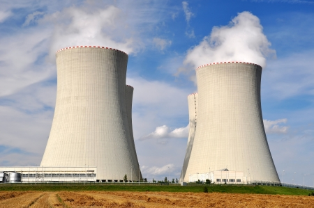 cooling tower: Nuclear power plant Temelin in Czech Republic Europe