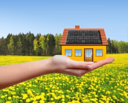 rental house: La casa en manos Foto de archivo