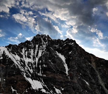 dom: Mont Dom au coucher du soleil - Wallis, Alpes suisses