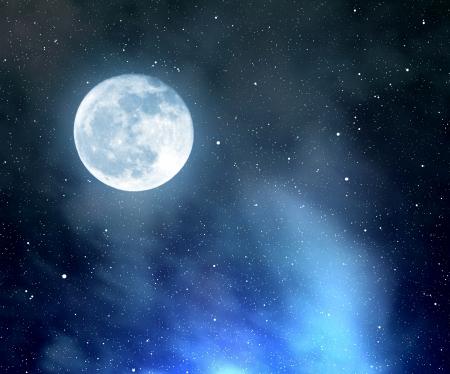 night moon: cielo nocturno con la luna Foto de archivo