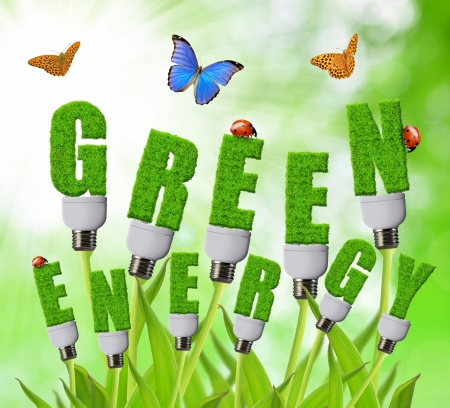 welfare plant: Green energy concepts  Stock Photo