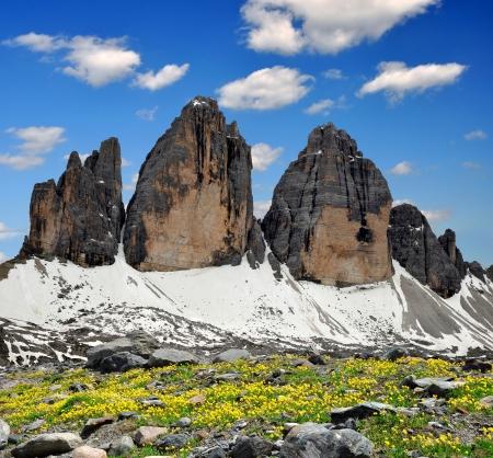 dolomite: Tre cime di Lavaredo, Dolomite Alps, Italy Stock Photo