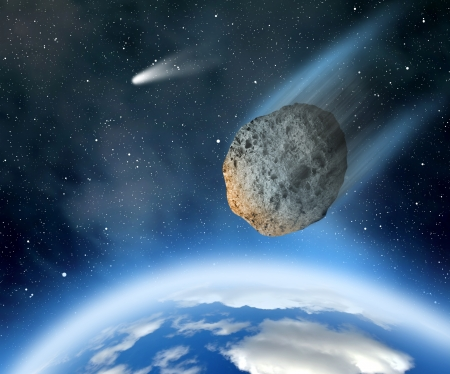 planetoid: Large asteroid falling on Earth