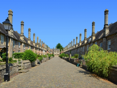 vicar: The Vicars  Close, Wells, Somerset, England