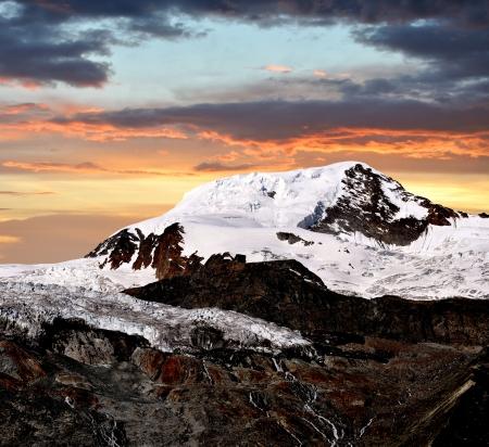wallis: mountain Alphubel - Wallis, Swiss alps Stock Photo
