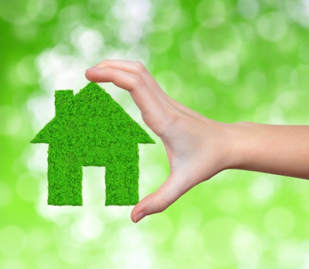 green house in hand photo
