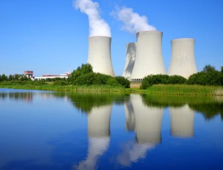 nuclear power: Nuclear power plant Temelin in Czech Republic Europe