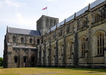 winchester: Winchester Cathedral a Winchester in Hampshire, Inghilterra, Regno Unito