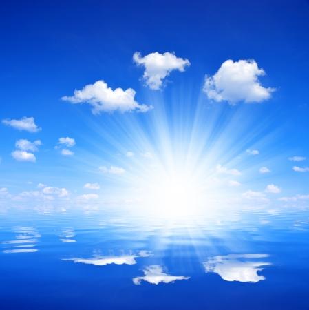 undulation: sunny sky above sea