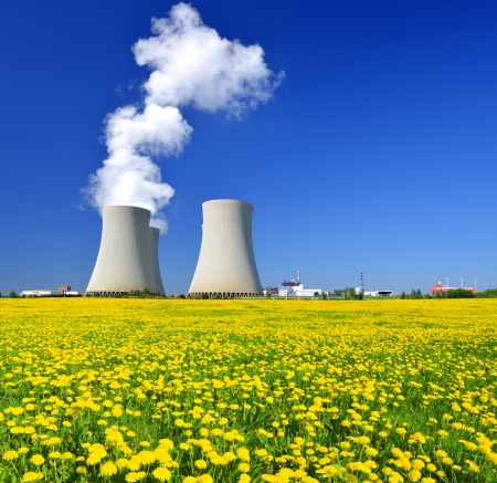 nuclear plant: Nuclear power plant Temelin in Czech Republic Stock Photo