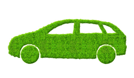 eco car isolated on white  Stock Photo - 22562802