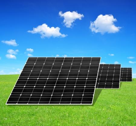 silicium: Solar energy panels  Stock Photo