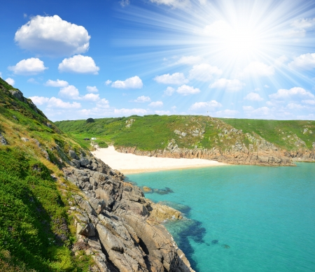 porthcurno: Porthcurno Beach Cornwall England UK