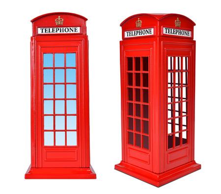telephone booth: British telephone box