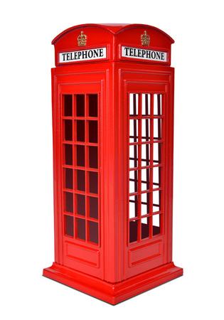 Britische Telefonzelle, auf einem weißen Hintergrund Standard-Bild - 24366709