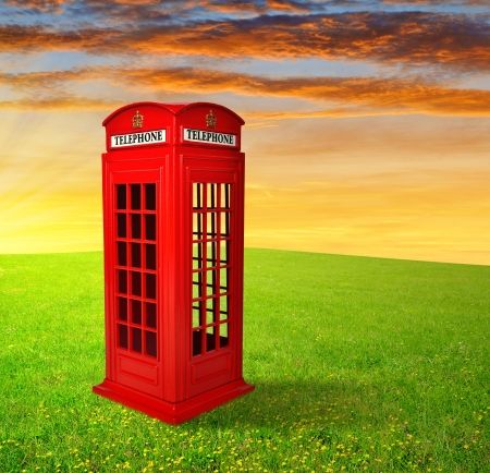 British telephone box photo